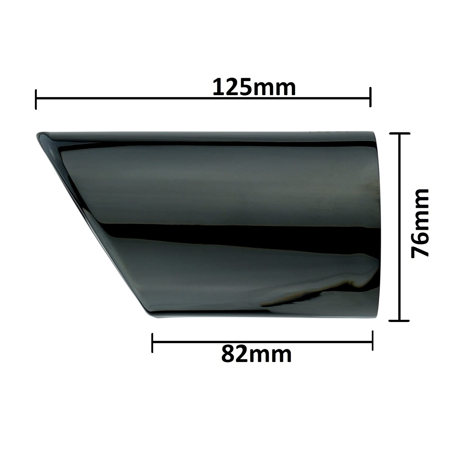 set of 2 L/&P A295 black//chrome polished plug and play tailpipe stainless steel tailpipe trim