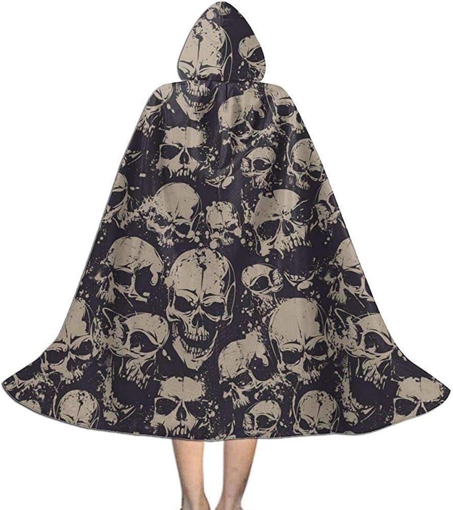 OKME Custom Capa De Bruja,Disfraz De Skull Grunge Scary Skulls ...