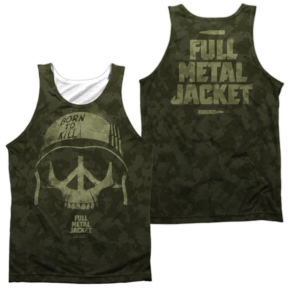 Tank Top: Full Metal Jacket- War For Peace (Front/Back) Trevco