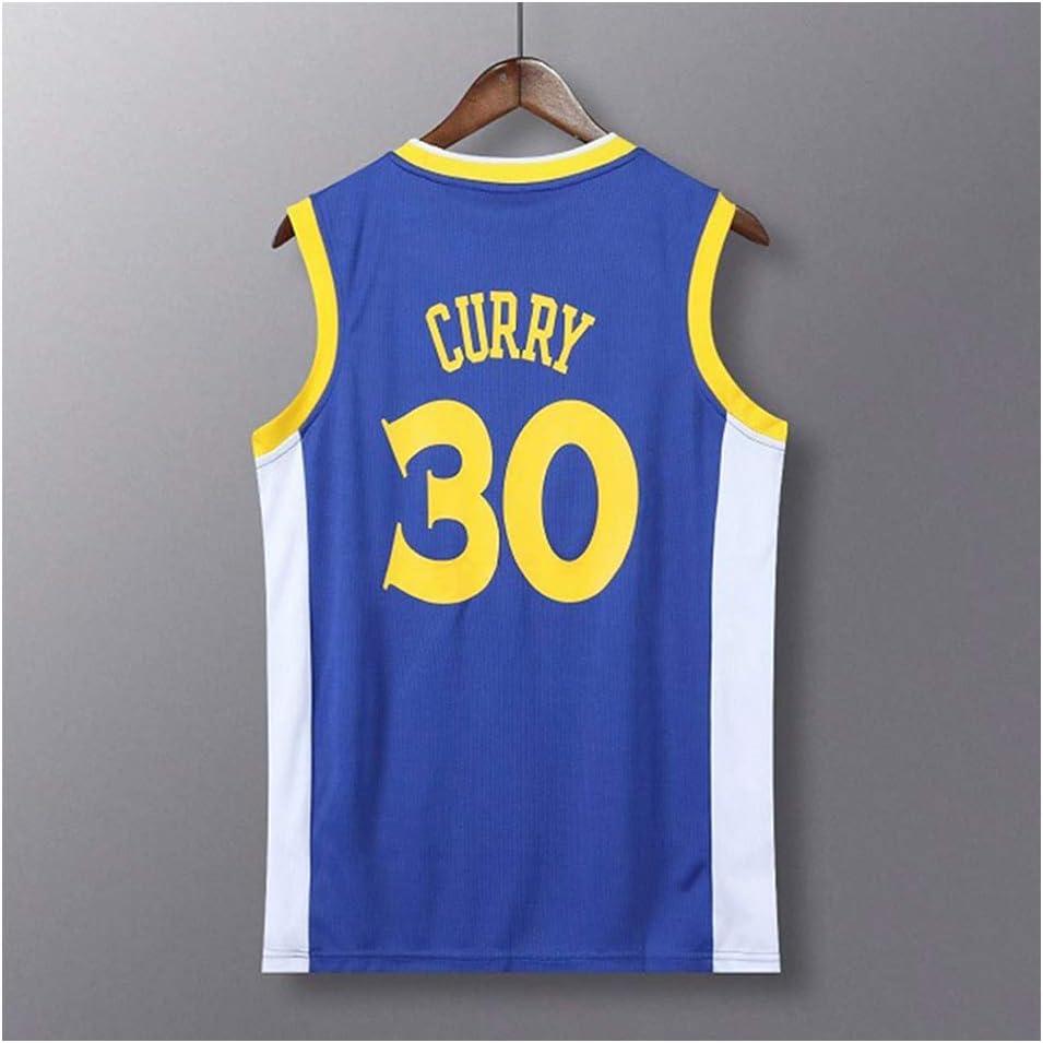 Curry #30 Warriors Azul Camisetas de baloncesto para hombre, Universidad de Baloncesto Jersey Camiseta sin mangas Nueva Tela Bordada (S-4XL): Amazon.es: Deportes y aire libre