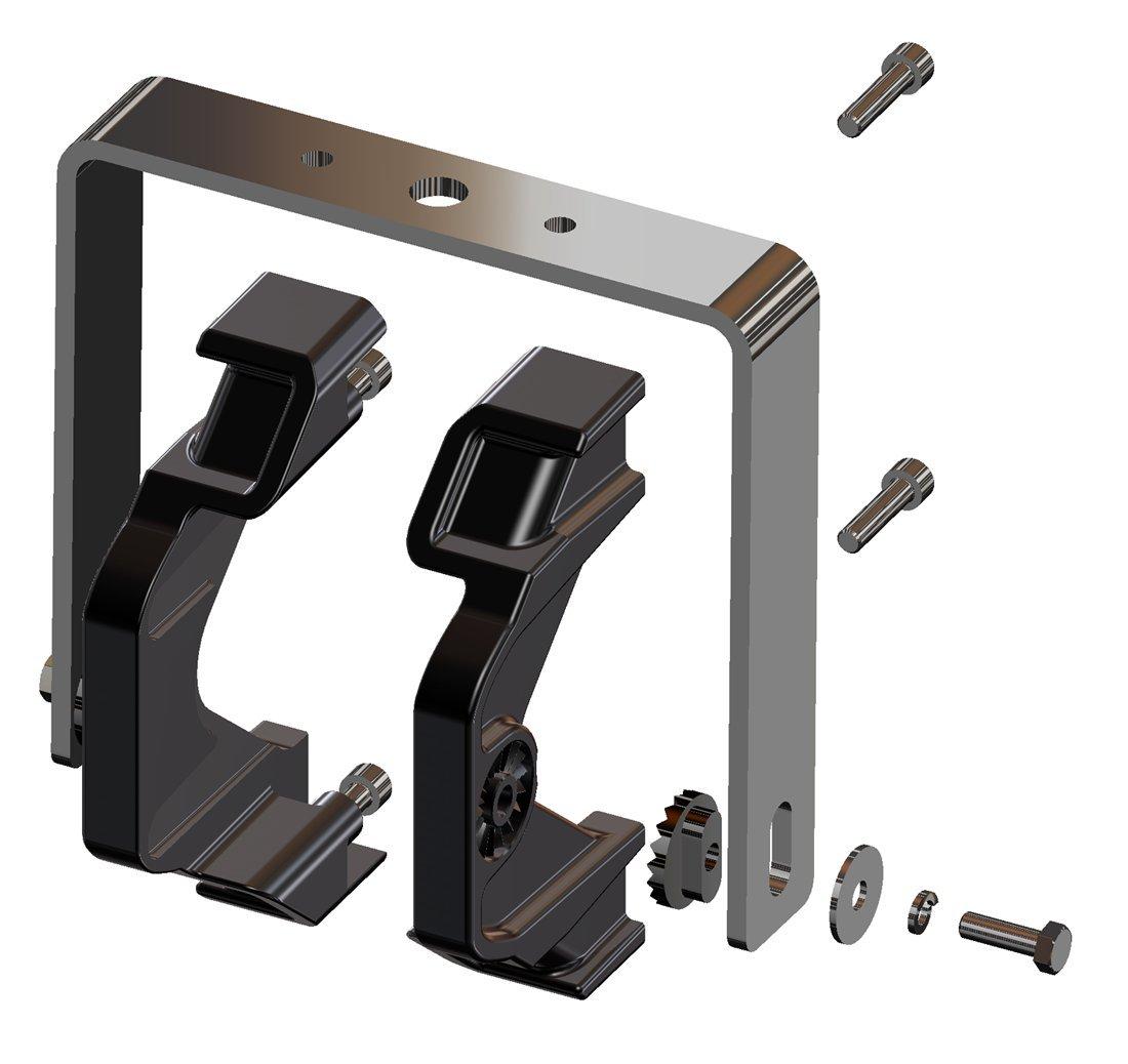 Federal Signal G-KIT-ST Global Series U-Bracket Kit, Stainless Steel, Single Mount