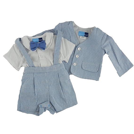Good Lad Toddler Boys Blue Seersucker Eton Suit
