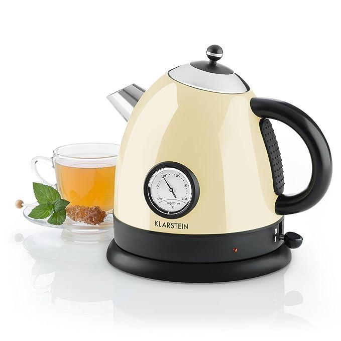 Wasserkocher Teekocher 360° Kabellos 1,7L 2200W Sicherheitsabschaltung Gelb