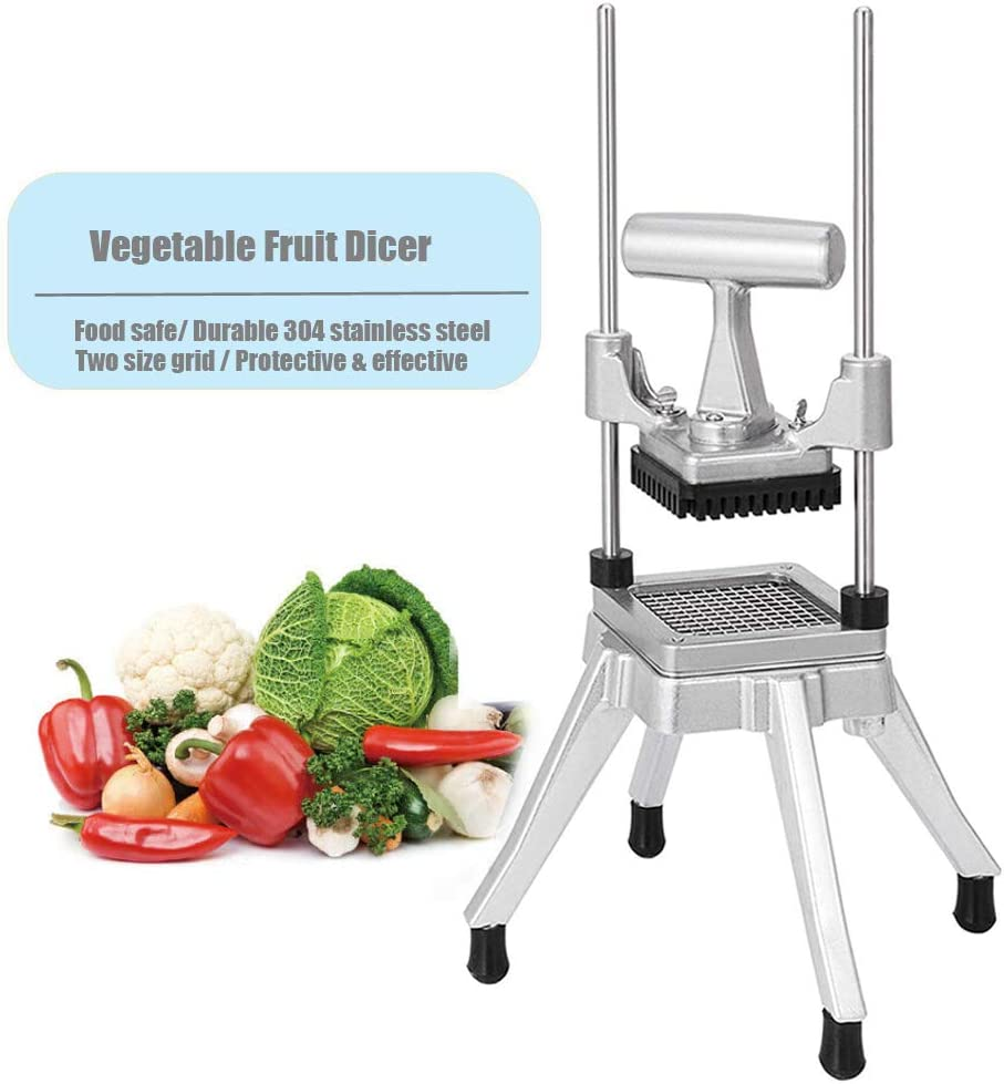 "3/8"" Blade Commercial Vegetable Fruit Dicer Onion Potato Tomato Slicer Chopper Peppers,Potatoes,Mushrooms Restaurant Quick Slicer Machine"