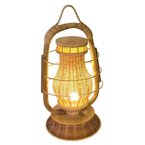Lámpara de Mesa Sencilla, Idílica, Bambú Hecho a Mano, Star ...