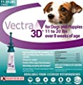 Vectra 3D® Teal for Medium Dogs 11 - 20 Pounds (3 Doses) by Ceva Animal Health, LLC