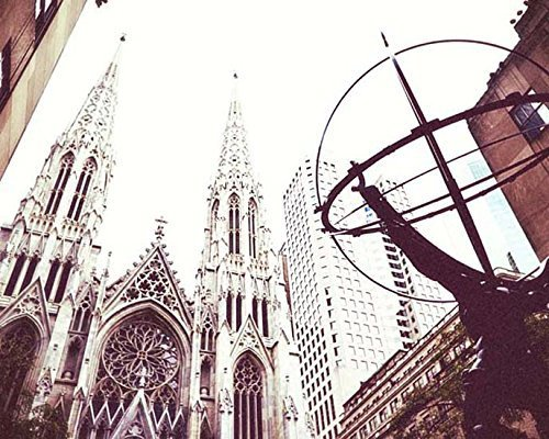 New York City Photography St. Patricks Cathedral Architectural photo 5x7 inch Print