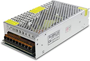 ALITOVE DC 12V 20A 240W Power Supply Transformer Switch AC 110V / 220V to DC 12V 20amp Switching Adapter Converter LED Driver for LED Strip Light CCTV Camera Security System