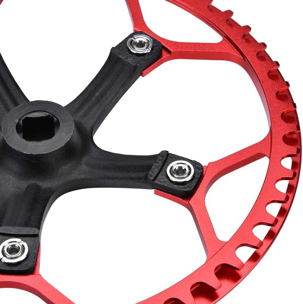 Guarnitura Perno Quadro Guarnitura Bici 170 mm Bicycle Chainwheel Chain Set 45T 47T 2 Colori
