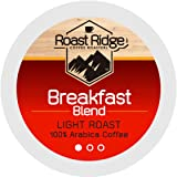 Roast Ridge Single Serve Coffee Pods Compatible with Keurig K Cup Brewers, Breakfast Blend, 100 Count