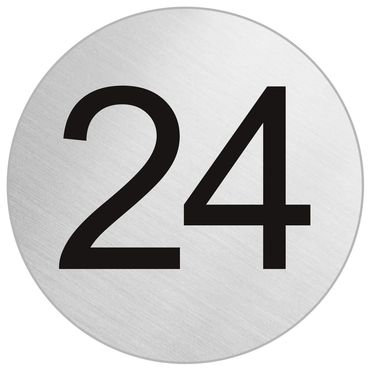 OFFORM Señal pictograma en acero inox Ø 75mm No.41014 'Número 24'