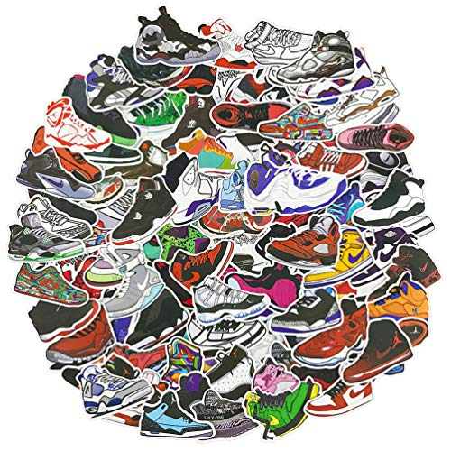 Air Jordan Shoe Laptop Stickers 100Pcs Pack, Cool