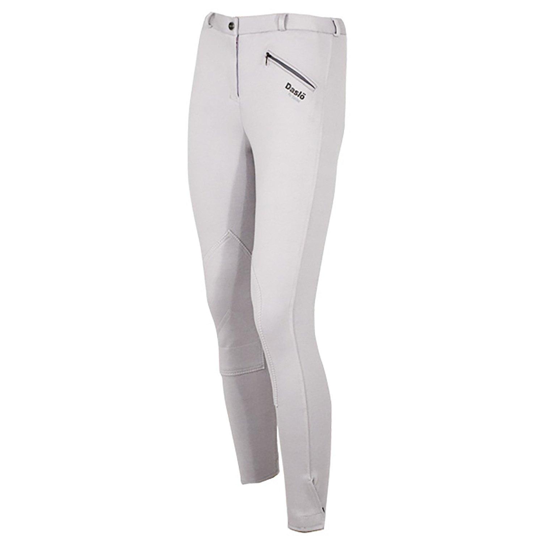 Bianco DASL/Ö Pantaloni Donna Peso Standard Maglina di Cotone Elasticizzata
