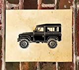 KillerBeeMoto: Limited Print Of A 1972 Land Rover Defender Automotive Print