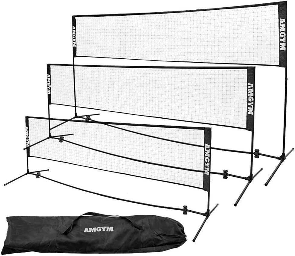 Albott Portable Tennis Net Set - for Tennis, Soccer Tennis, Pickleball, Kids Volleyball, Badminton - Easy Setup Nylon Sports Net with Poles 10FT 14FT 17FT : Sports & Outdoors