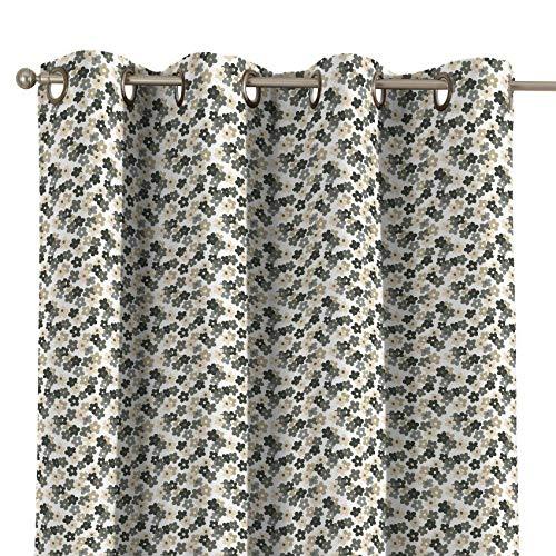 Dekoria Ösenschal Dekoschal Blickdicht 1 Stck. 130 × 260 cm grau- beige Maßanfertigung möglich