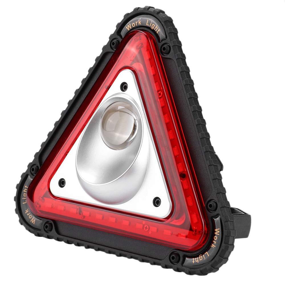 luz de trabajo LED port/átil para acampar excursionismo reparaci/ón de Luz de advertencia de emergencia de tri/ángulo 10W 1000 LUMENS Luz de inundaci/ón LED para exteriores resistente a la intemperie