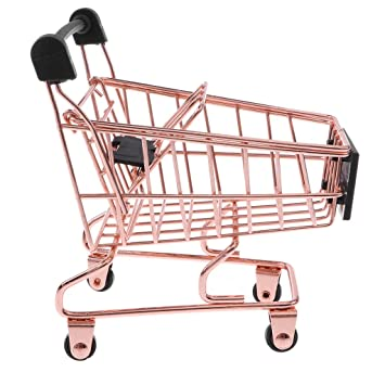 4ccf40855d1d Baoblaze Novelty Mini Shopping Cart Trolley Toy - Pen/ Pencil/ Cards ...