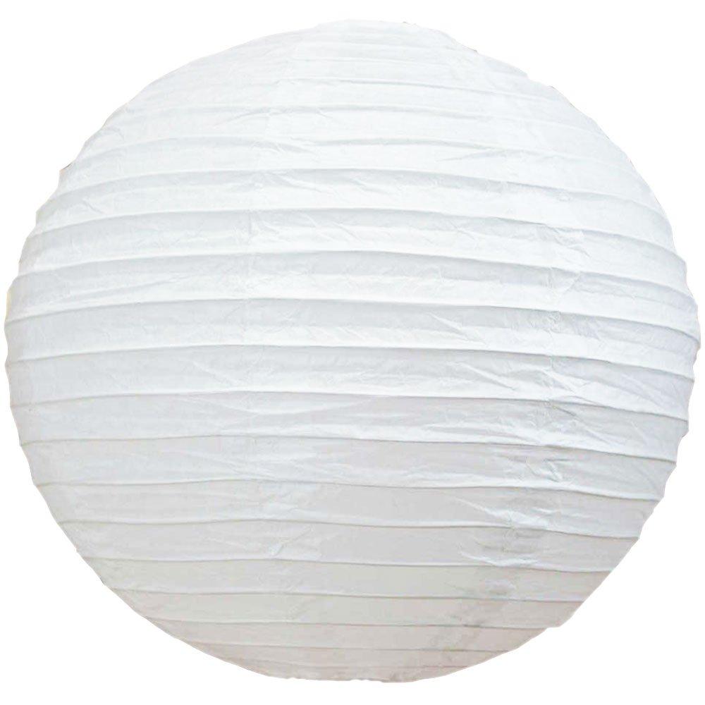 球体ペーパーランタン うね織り模様 ぶらさげるのに(電球は別売り) 42 Inch (6 Pack) 42EVP-WH6 6 B01B5SNINQ 42 Inch (6 Pack)|ホワイト ホワイト 42 Inch (6 Pack)