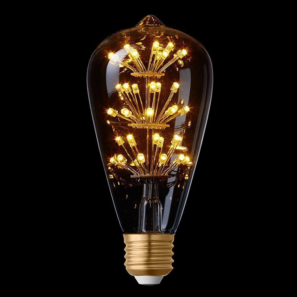 Splink E27 Vintage Bombilla LED de luz de Edison,Edison estilo, substituir 40w incandescente