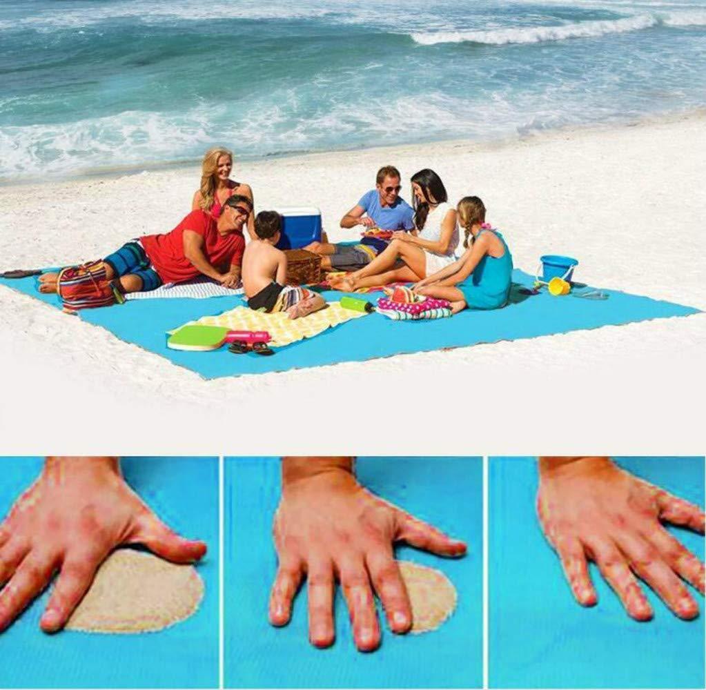 Ligera para Acampada Picnic Ultra Grande 200 x 200 cm Marbeine Alfombra de Arena Gratis de Playa antiarena y Duradera Festivales