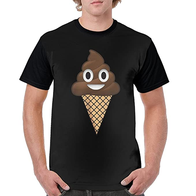 78f0827fc1 Image Unavailable. Image not available for. Color: WY Fashionary Poop Ice  Cream Men Printing Tees Shirt Short Sleeve ...