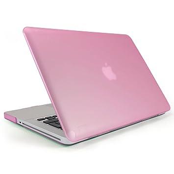 Incutex funda para ordenador portátil para Apple MacBook, rígida rosa oscuro mate Macbook Pro 15