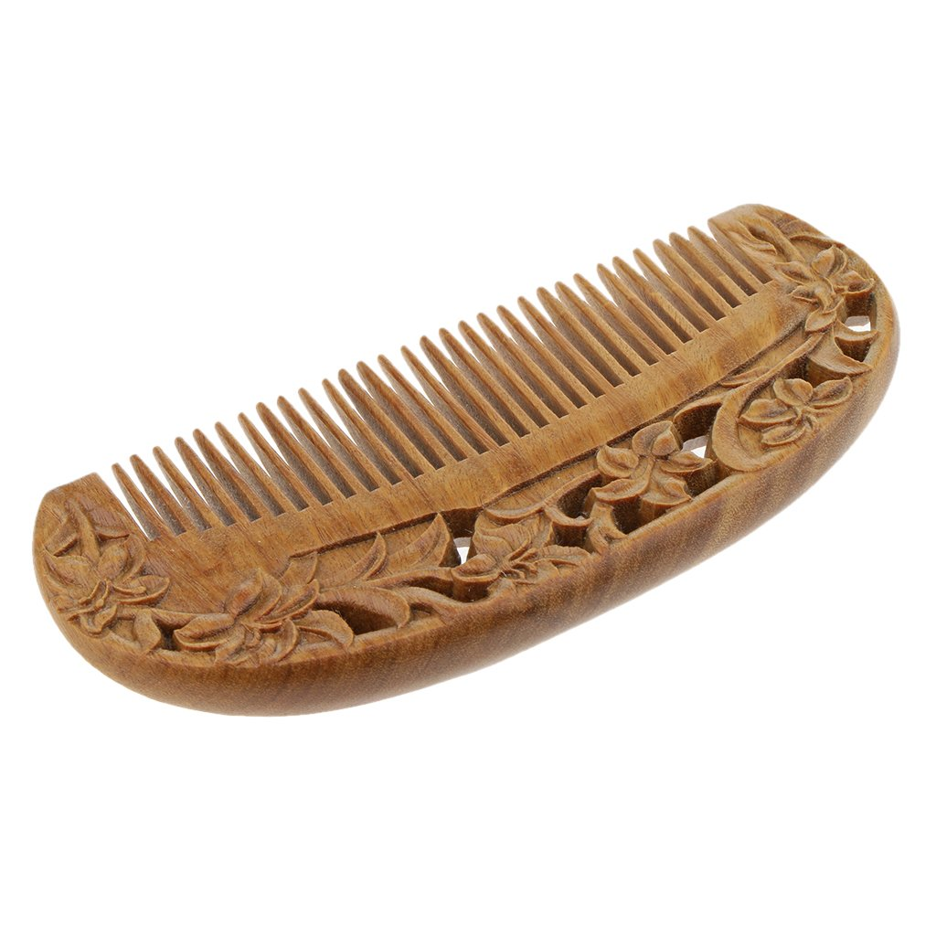 Fityle Handmade Wooden Comb Hair & Beard Detangler for Women and Men - Natural Anti Static Wood for Detangling and Styling Wet or Dry Curly, Thick, Wavy, or Straight Hair - Small Pocket Sized