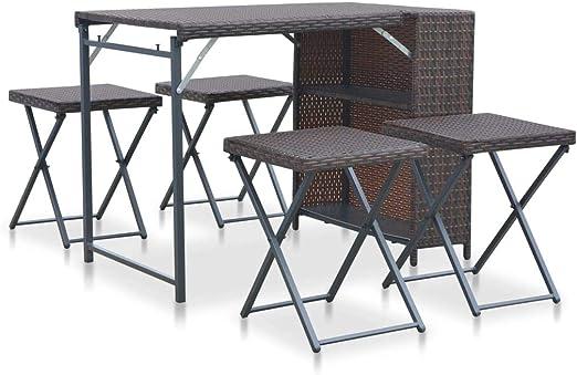 à d'Extérieur 1 Table et Festnight Ensemble D 4 ner Pliable T1FK3lJc