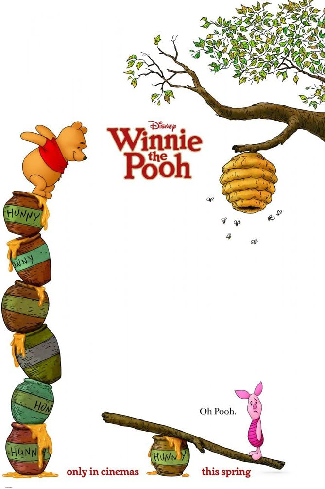 winnie the pooh movie poster 2 sided