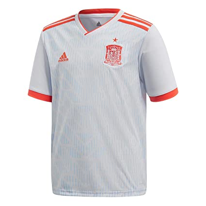 a710ac847 Image Unavailable. Image not available for. Color  adidas 2018-2019 Spain  Away Youth Kit