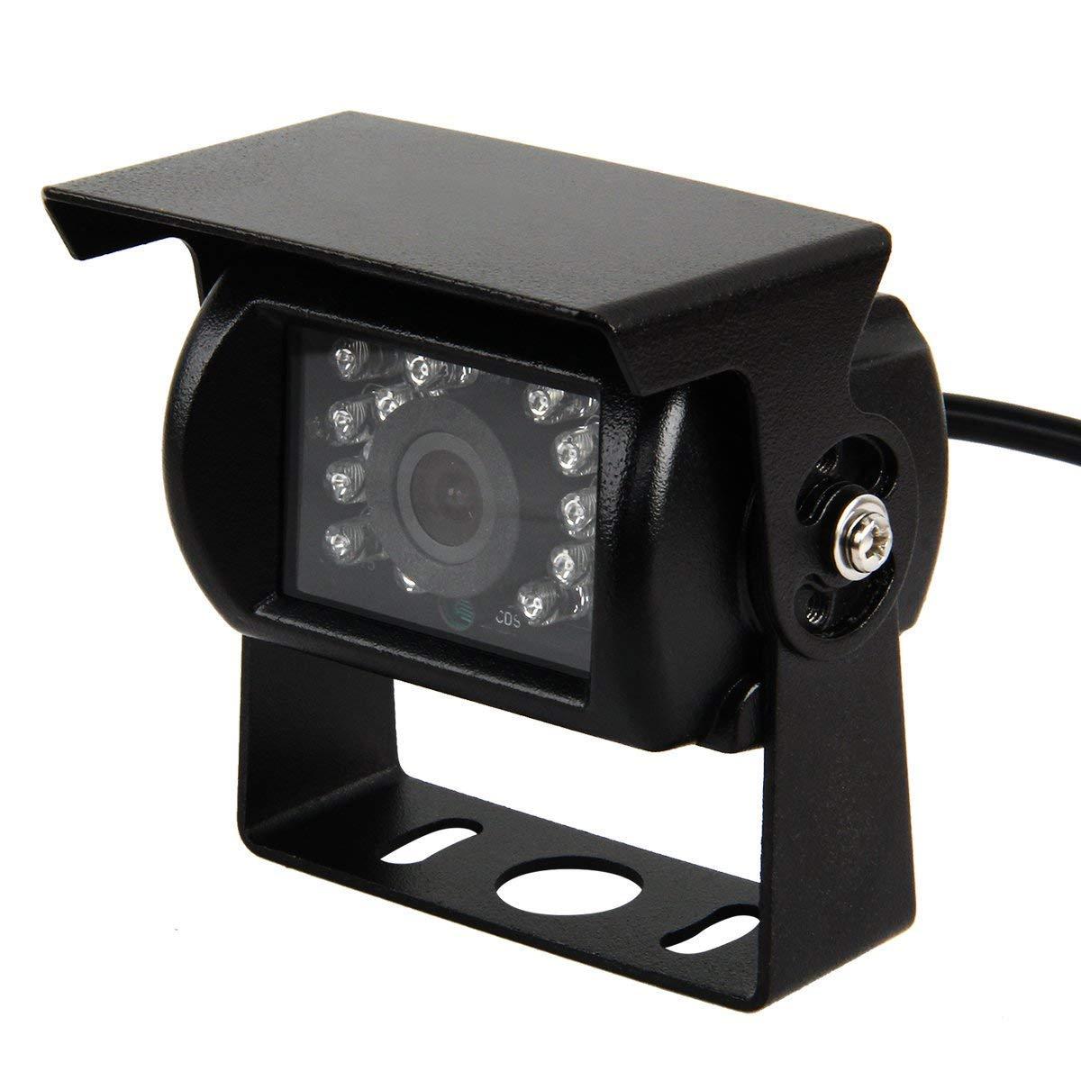 Phansthy impermeabile auto telecamera posteriore 18 LED IR vista 170 gradi ad alta definizione CCD veicolo telecamera di retromarcia per camion rimorchio Bus fenthy FTY887