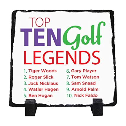 Amazon com: Personalized Custom Text Top Ten Golf Legends Stone