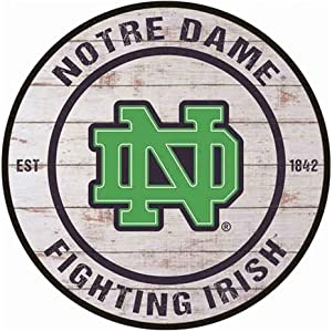 YOMIA Tin Signs Notre Dame Fighting Irish Metal Signs Plaque for Man Cave Signs and Decor 30x30cm