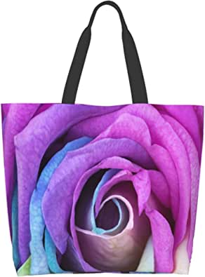 Magic Windmill Forest Large Canvas Shoulder Tote Top Handle Bag for Gym Beach Weekender Travel Shopping
