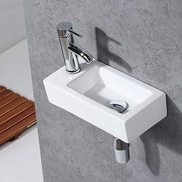 Gimify Bathroom Corner Sink Mini Wall Mount Sink Toilet Vessel Sink Ceramic White For Small Bathroom Left Hand Amazon Com