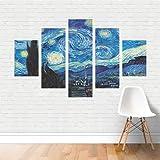 Quadro Artístico Starry Night Noite Estrelada Vincent Van Gogh