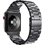 Fintie Correa para Apple Watch - 44mm/42mm Pulsera de Repuesto Sólido de Acero Inoxidable para 44mm y 42mm Apple Watch Serie 4 Serie 3 Serie 2 Series 1 Todos los Modelos,