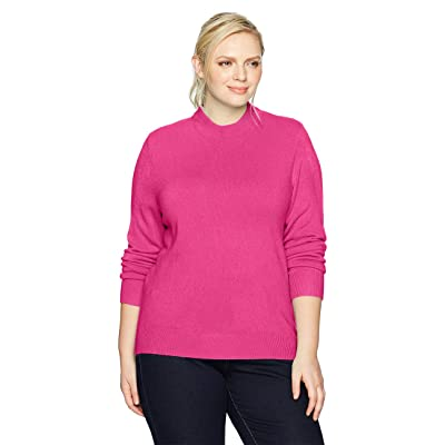 Sag Harbor Women's Long Sleeve Zip Back Mock Neck at Women's Clothing store