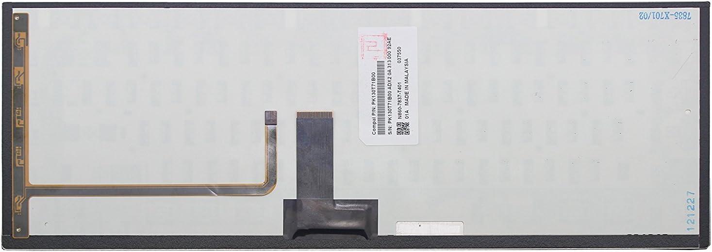 New for Toshiba Satellite U845-S404 U845-S406 U840-SP4362SM U845-S402 Black Backlit Keyboard
