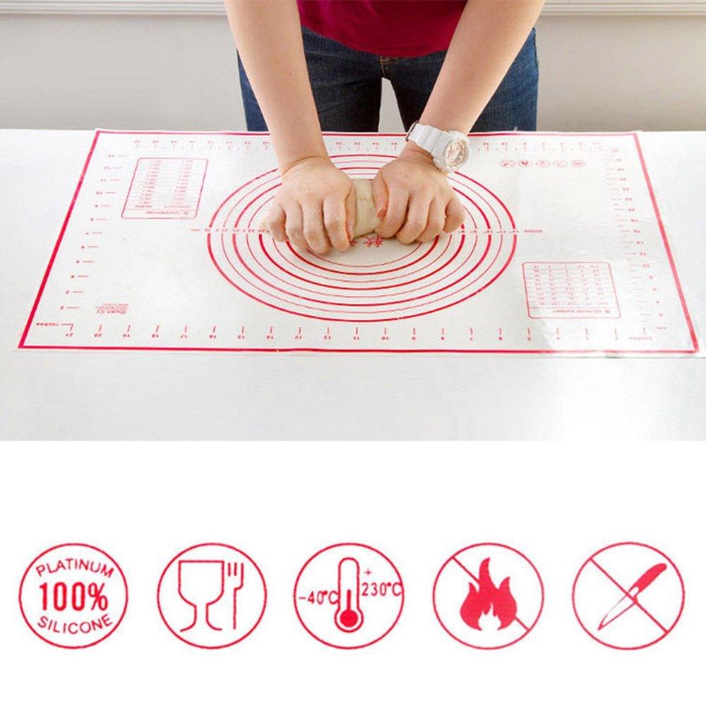Ndier 40* 60cm Rouleau à Pâte antiadhésif Tapis de four en silicone Tapis de pâtisserie outils cuisson Liner Pad de pétrissage Pâte Tapis de cuisson à chair s