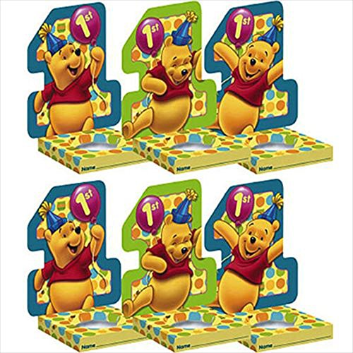 Winnie the Pooh Balloon 1st Birthday Cupcake Holders (6ct)