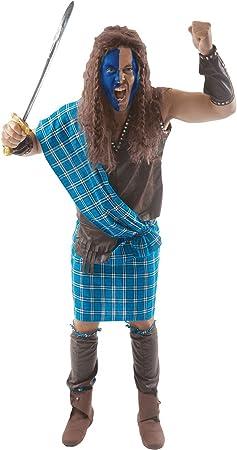 Disfraz para Adulto Guerrero escocés: Amazon.es: Juguetes y juegos