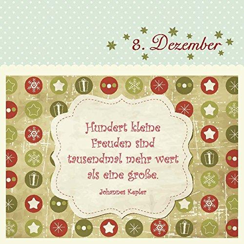 24 liebe Weihnachtsgrüße: Adventskalender & Geschenkanhänger: Amazon ...