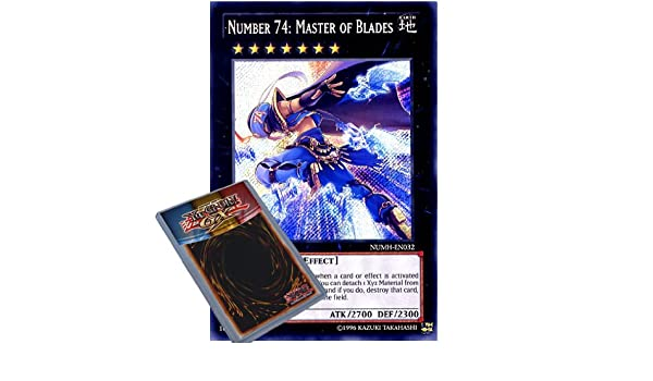 Yu-Gi-Oh NUMH Number Hunters 1x Number 74: Master of Blades Secret Rare