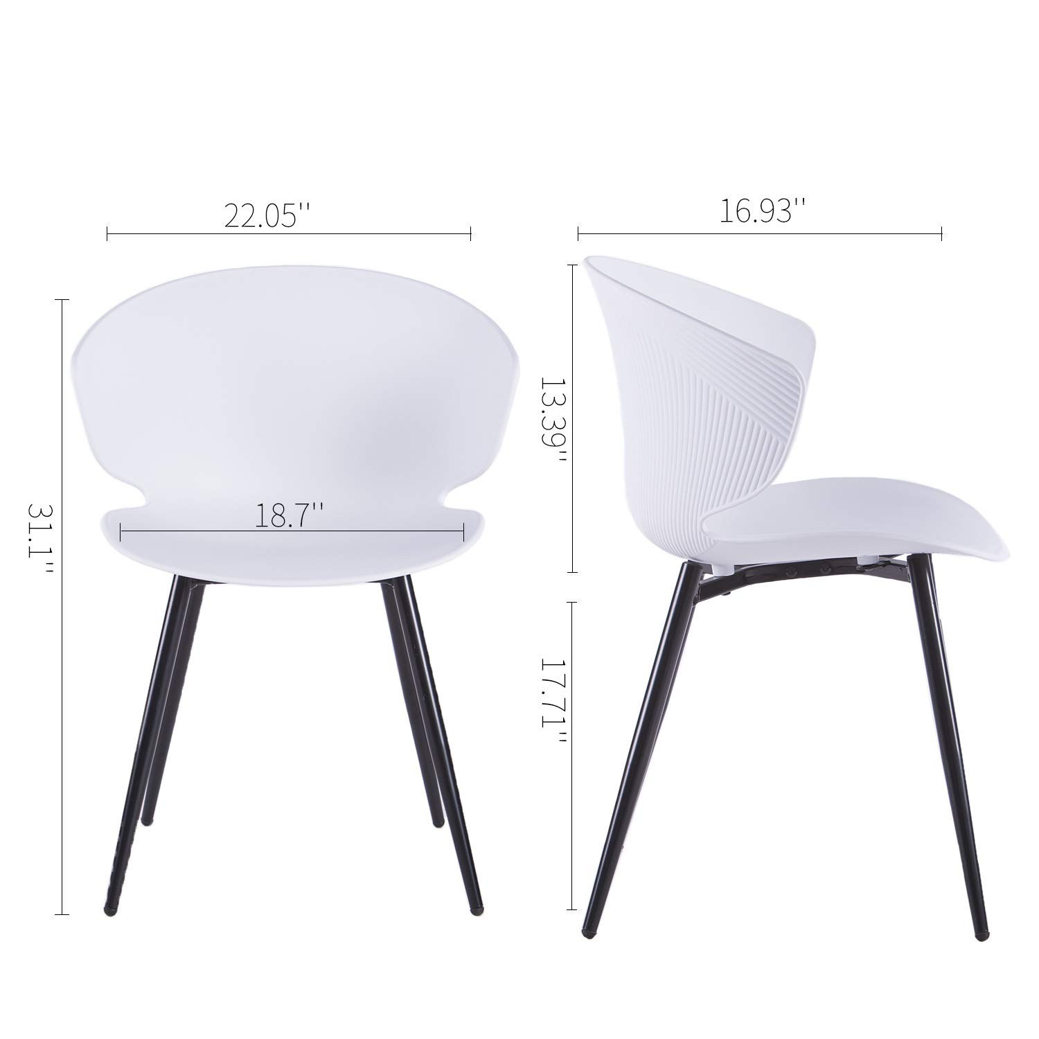 Amazon.com: LIANFENG Set of 2 Shell Chair Modern Style ...