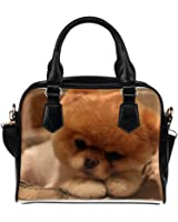 Angelinana Custom Women's Handbag Boo The Dog Pet Dog Fashion Shoulder Bag