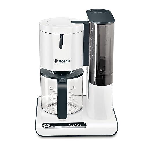 Bosch TKA8011 Cafetera de Goteo, 1.160 W, Capacidad para 10/15 Tazas, Color Blanco