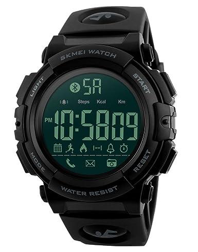 Smart Sports Relojes de pulsera para hombre, digital, cámara remota, recordatorio de llamadas, Bluetooth, relojes inteligentes para iPhone, Android: skmei: ...