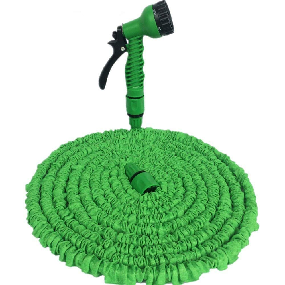 Expandable Garden Hose, Wazonton Strongest Magic Expending Water Hose with 7 Function Sprayer Nozzle, Extral Strength Fabric Protection for Car, Garden, Pet, Shower, Watering (50FT(Expanding Length))